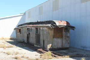 N-C-O Ry. Baggage Car 22 in Alturas, California.